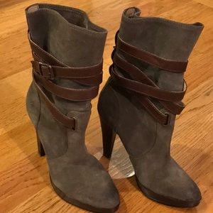 Multi strap high heeled Frye boots